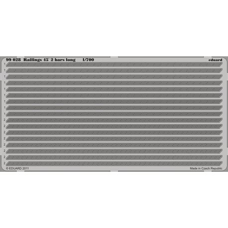 EDUARD 99028 1/700 Photo Etched Railings 45´ 2 bars long