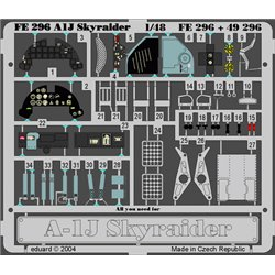 EDUARD FE296 1/48 Photo Etched A-1J For Tamiya