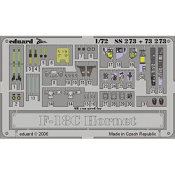 EDUARD SS273 1/72 Photo Etched F-18C For Hasegawa