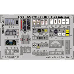 EDUARD SS379 1/72 Photo Etched F-22 interior S. A. For Fujimi