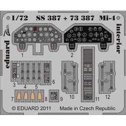 EDUARD SS387 1/72 Photo Etched Mi-4 interior S. A. For Hobby Boss