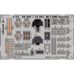 EDUARD SS391 1/72 Photo Etched Bf 110B interior S. A. For Airfix