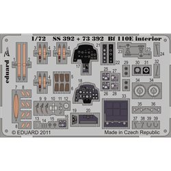 EDUARD SS392 1/72 Photo Etched Bf 110E interior S. A. For Airfix