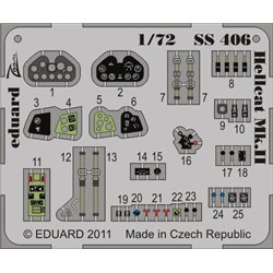 EDUARD SS406 1/72 Photo Etched Hellcat Mk. II S. A. For Eduard