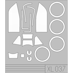 EDUARD XL037 1/32 Masks Bf 109G-14 For Hasegawa