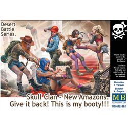 MASTERBOX MB35202 1/35 Desert Battle Series. Skull Clan-New Amazons
