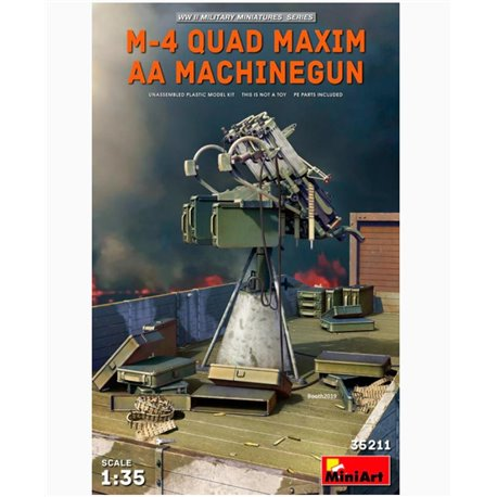 MINIART 35211 1/35 M-4 Quad Maxim AA Machinegun