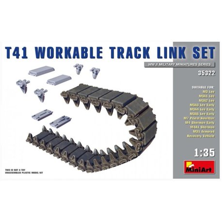 MINIART 35322 1/35 T41 Workable Track Link Set