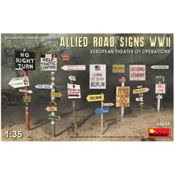 MINIART 35608 1/35 Allied Road Signs WWII. European Theatre of Operations