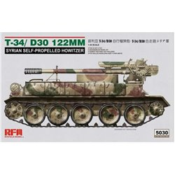 RYE FIELD MODEL RM-5030 1/35 T-34/D-30 122mm Syrian Self-Propelled Howitzer