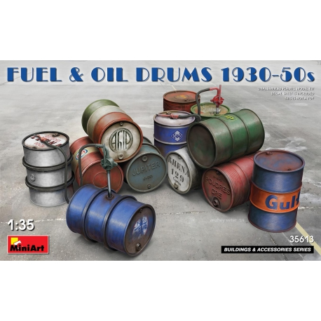 MINIART 35613 1/35 Fuel & Oil Drums 1930-50s
