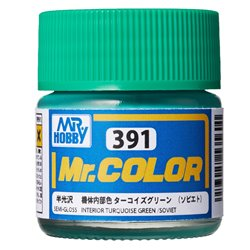 GUNZE C391 Mr. Color (10 ml) Interior Turquoise Green (Soviet)