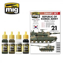 AMMO BY MIG A.MIG-7173 REPUBLIC OF KOREA ARMY MODERN COLORS 4x17ml