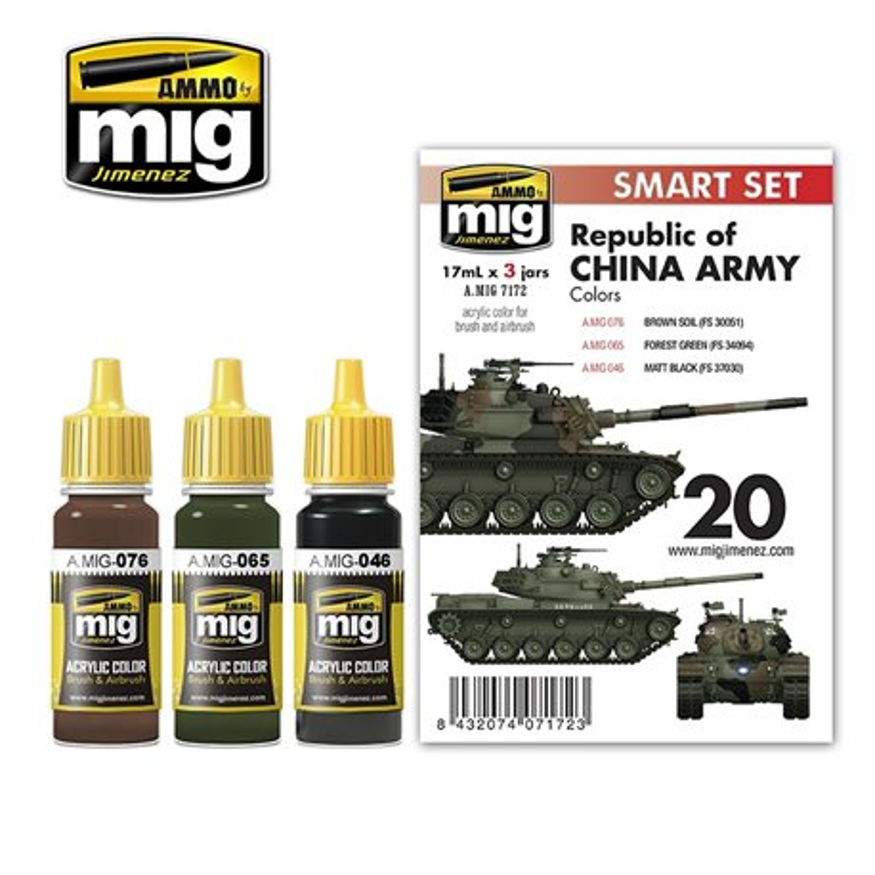 AMMO BY MIG A.MIG-7172 M48H RoCA (REPUBLIC OF CHINA ARMY) 3x17ml