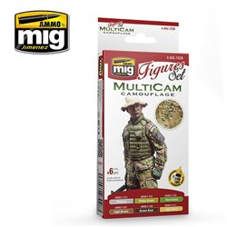 AMMO BY MIG A.MIG-7028 MULTICAM CAMOUFLAGE SET 6x17ml