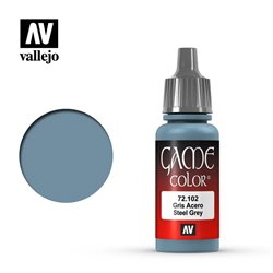 VALLEJO 72.102 Game Color Steel Grey Color 17 ml.