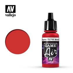 VALLEJO 72.710 Game Air Bloody Red Color 17 ml.