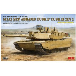 RYE FIELD MODEL RM-5026 1/35 M1a2 Tusk I/ Tusk Ii With Full Interior