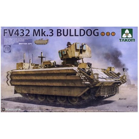 TAKOM 2067 1/35 British APC FV432 Mk.3 Bulldog 2 in 1