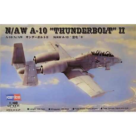 HobbyBoss 1//48 80324 N//AW A-10 Thunderbolt II Model Kit Hobby Boss
