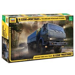 "ZVEZDA 3697 1/35 Russian Three-Axle Army Truck KamAZ-5350 ""Mustang"""