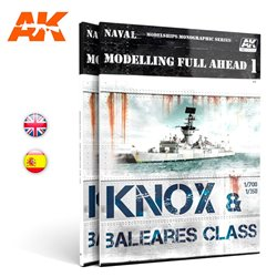 AK INTERACTIVE AK098 MODELLING FULL AHEAD 1 / KNOX & BALEARES CLASS Anglais
