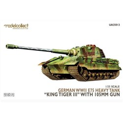 MODELCOLLECT UA35013 1/35 German WWII E-75 heavy tank King tiger IIIwith 105mm gun