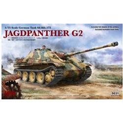 RYE FIELD MODEL RM-5031 1/35 Jagdpanther G2 W/ Workable Track Links & Rm-5005 & Rm5008 & Rm5015 & Rm5028