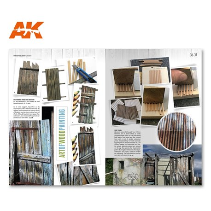 AK INTERACTIVE AK4901 WORN ART COLLECTION 01 – WOODEN Anglais