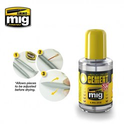 AMMO BY MIG A.MIG-2038 MEDIUM DENSITY CEMENT. SLOW DRY 30ml