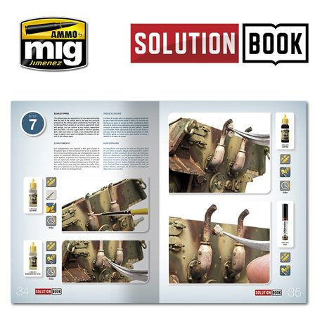 AMMO BY MIG A.MIG-6503 SOLUTION BOOK. HOW TO PAINT WWII GERMAN LATE (Multilingual)