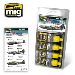AMMO BY MIG A.MIG-7228 FRENCH WWII AIRCRAFT COLORS 4x17ml