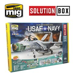 AMMO BY MIG A.MIG-7709 USAF NAVY GREY FIGHTERS SOLUTION BOX