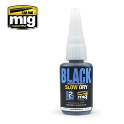 AMMO BY MIG A.MIG-8034 BLACK SLOW DRY CYANOACRYLATE