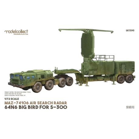 MODELCOLLECT UA72049 1/72 MAZ-74106 air search radar 64N6 BIG BIRD for S-300 camouflage.2010s
