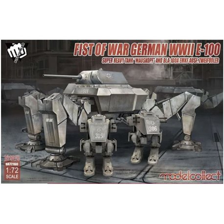 MODELCOLLECT UA72160 1/72 Fist o.War Ger.WWII E-100 Supper HeavyTank Mauskopf a.Bla-100A Emkf