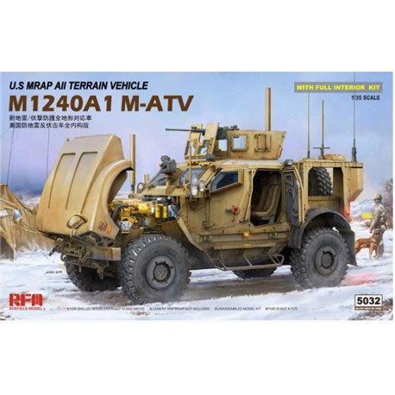 RYE FIELD MODEL RM-5032 1/35 M-Atv (MRAP All Terrain Vehicle) M1024a1