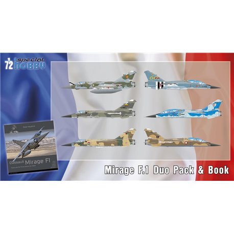 SPECIAL HOBBY SH72414 1/72 Mirage F.1 Duo Pack & Book