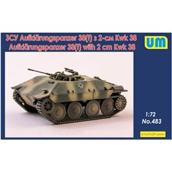 UNIMODELS 483 1/72 Aufklarungspanzer 38(t) with 2cm Kwk38