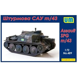 UNIMODELS 489 1/72 m/43 assault self-propelled gun