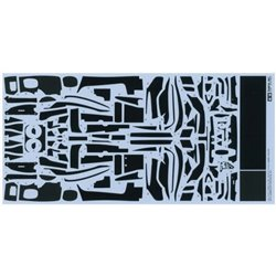 TAMIYA 12669 1/24 Ferrari FXX K - Carbon Pattern Decal Set for Tamiya
