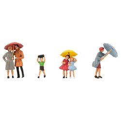 FALLER 150953 HO 1/87 Passers-by with umbrella