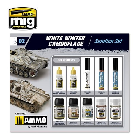 AMMO BY MIG A.MIG-7803 Super Pack White Winter Camouflage