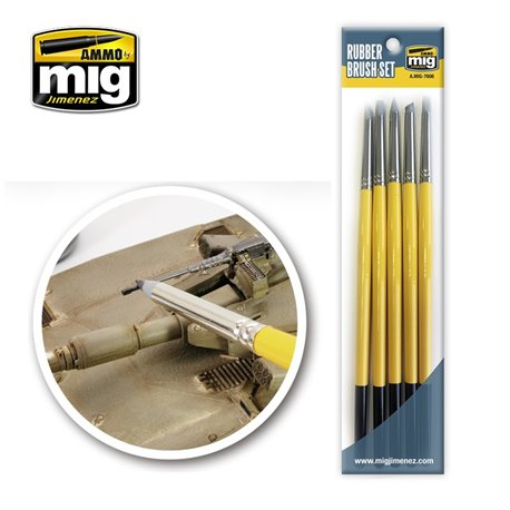 AMMO BY MIG A.MIG-7606 Rubber Brush Set