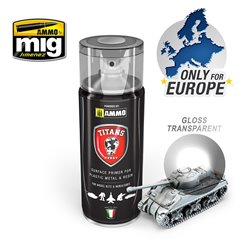 AMMO BY MIG TTH114 TITANS HOBBY: GLOSS TRANSPARENT VARNISH sprya 40ml