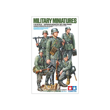 TAMIYA 35371 1/35 German Infantry Set (Mid-WWII)
