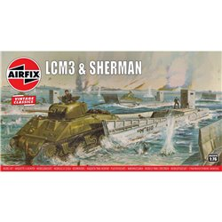 AIRFIX A03301V 1/76 LCM3 & Sherman