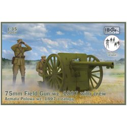 IBG Models 35059 1/35 75mm Field Gun wz. 1897 with crew