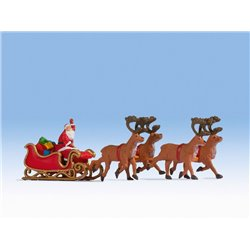 NOCH 15924 HO 1/87 Santa Claus with carriage