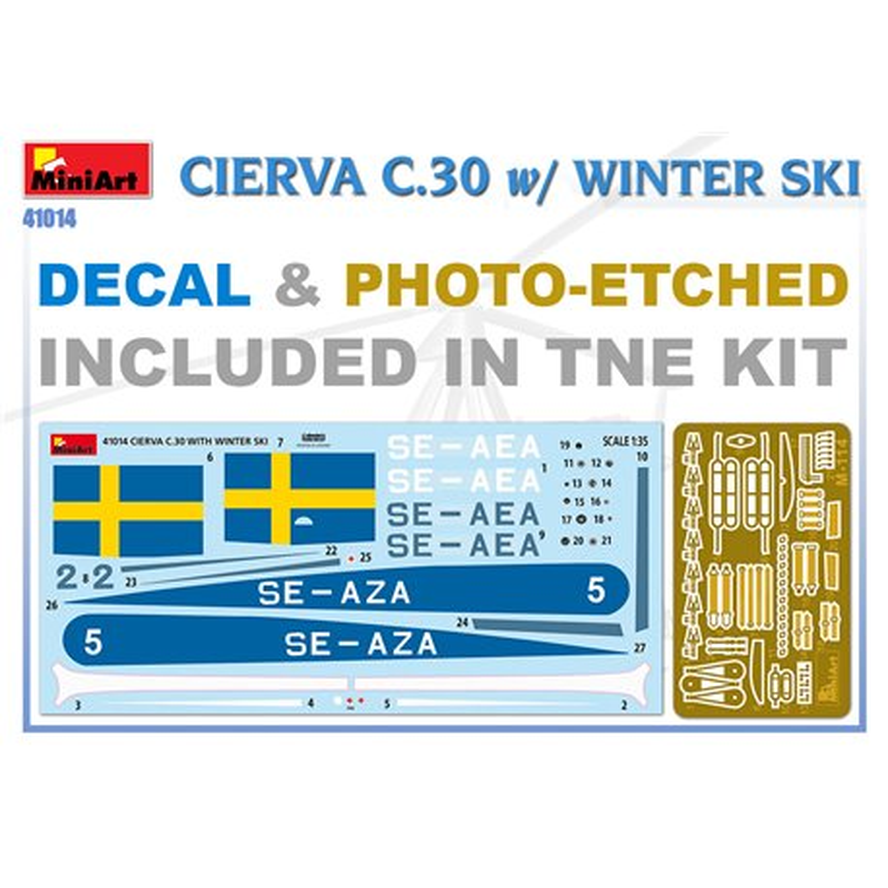MINIART 41014 1/35 Cierva C.30 with Winter Ski